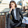 【极速发货  超低价格】2020春秋新款商务正装面试女士套装工作服职业装长袖西服