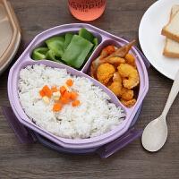 小麦秸秆密封塑料学生食堂简约日式分格保鲜餐盒微波炉饭盒便当盒