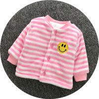 婴儿保暖上衣冬季加绒加厚女男宝宝棉袄新生儿衣服0-6-12个月