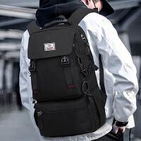 韩版时尚双肩包男休闲书包男大容量防水登山旅游背包行李袋户外旅行包