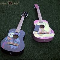 儿童吉他玩具可弹奏初学者早教乐器开心宝贝30寸小吉他 六弦木质