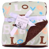 新生儿秋冬抱被宝宝空调被儿童春秋小毯子婴儿毯珊瑚绒婴儿毛毯