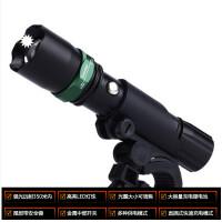 手电筒 可充电强光LED远射自行车伸缩灯夜骑山地车前灯骑行装备