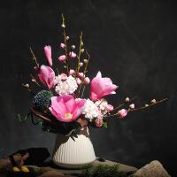 真挚玉兰花报喜梅花陶瓷花瓶艺术插花仿真花成品假花绢花装饰花艺