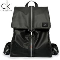 CK正品时尚潮流双肩包男休闲背包大学生书包简约牛津布旅行包新品
