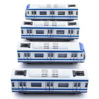 合金地铁模型带磁力动车火车高铁模型玩具儿童回力仿真车模