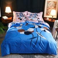 结婚大红床上用品4四件套新婚庆被套床单2.0双人1.8m简约
