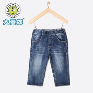 大黄蜂童装 牛仔短裤 女童短裤2018新款夏季韩版宽松儿童5分裤子