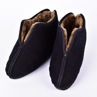 老太太棉鞋小脚老太太鞋手工尖头女老人保暖布鞋冬季棉鞋ljj 黑色 裹脚棉鞋 29 底长20 内长19.5