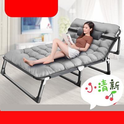 多功能家用折叠床单人办公室简易行军陪护成人午休躺椅午睡床便携 p0g 4档调节 4脚加固 加厚床垫