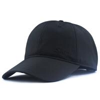 大号棒球帽加深大头围帽子男士春夏鸭舌帽65cm韩版加大码遮阳帽 黑色 夏天速干
