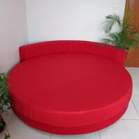 订做棉圆床床笠单件棉圆床床单四件套圆形床罩床垫保护套