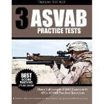 【预订】3 ASVAB Practice Tests: Three Full Length ASVAB Exams w