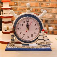 地中海风格座钟家居摆钟客厅卧室钟表床头钟摆件