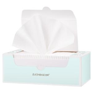 透真(LUCENBASE) 洗脸巾纯棉一次性面巾纸擦脸洁面巾美容无纺布抽取式棉柔巾
