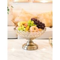 【支持礼品卡支付】现代简约创意欧式玻璃果盘果篮果盆大号样板房家用客厅茶几摆件