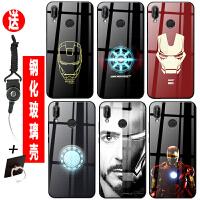 小米Redmi红米7/note7/k20/pro手机壳钢铁侠漫威欧美玻璃定制镜面