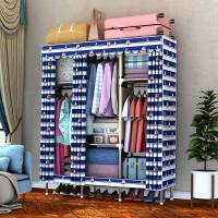 简易布衣柜家用推拉门简约现代挂衣橱组装双人卧室衣橱柜子省空间