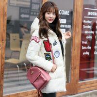 新款棉衣女中长款学生韩版宽松加厚棉袄可爱羽绒冬季外套 S 建议80-100斤