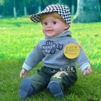 儿童智能对话娃娃会说话的洋娃娃仿真软胶娃娃音乐布娃娃男孩玩具 208格子小淘气