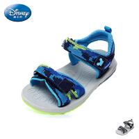 迪士尼Disney童鞋2018新款儿童凉鞋活力迷彩男童沙滩鞋时尚休闲鞋 (9-13岁可选)  S73083
