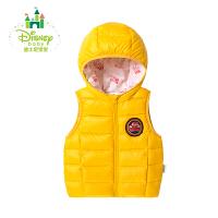 迪士尼Disney童装儿童羽绒马甲保暖男女童羽绒服上衣连帽秋冬164S848