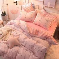 ???秋冬全棉磨毛水晶绒四件套加厚珊瑚绒床单床笠保暖床上用品