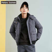 美特斯邦威2017冬装新款羽绒服男短款韩版潮流保暖外套潮专柜款