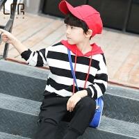 男童卫衣春秋新款儿童连帽打底衫韩版中大童帽衫男孩春装上衣