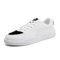 秋季新款板鞋男士小白鞋男鞋透气休闲鞋男韩版白色运动学生潮鞋子软底