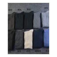 男袜子棉袜男冬季棉四季商务袜男棉袜中厚款麻花黑色长筒袜 39-42