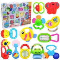 宝宝益智玩具婴儿摇铃新生儿摇铃牙胶礼盒12件套支持