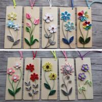 幼儿园学校手工作业儿童DIY制作衍纸套装折纸材料包【竹书签1】