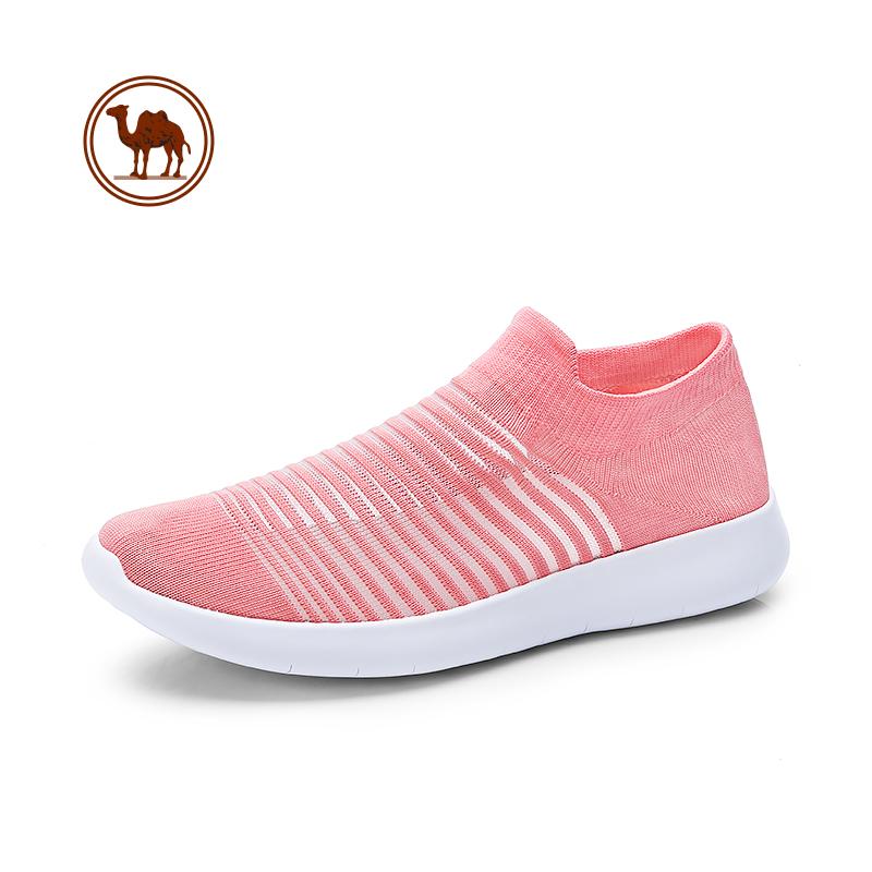 骆驼牌女鞋 2018春季新品舒适透气网布鞋女士时尚轻便套脚休闲鞋