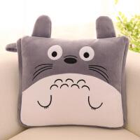 叮当猫卡通抱枕被子两用儿童小被子汽车靠垫被办公室空调被可折叠 100*150厘米【绗缝被子】