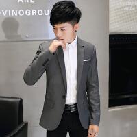 2018新款小西服男西装男士春季英伦休闲单西青年韩版修身型西服男装上衣外套潮流