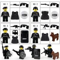 兼容乐高小颗粒积木人仔公仔小人城市职业人偶人物军事警察