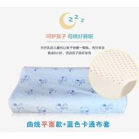 泰国乳胶记忆枕头儿童学生青少年小孩卡通护颈枕 透气枕头