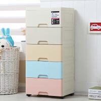 加厚抽屉式收纳柜子宝宝婴儿童衣柜箱塑料储物柜玩具多层五斗箱