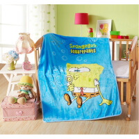 夏薄卡通婴儿童珊瑚绒毛毯 幼儿园午睡盖毯 小孩宝宝单层空调毯子