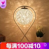 简约现代创意麻球夜灯卧室床头时尚浪漫艺术客厅装饰调光礼物台灯