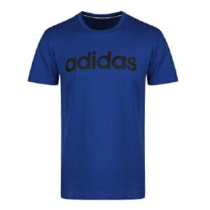 adidas neo阿迪休闲2018新款男子舒适透气运动休闲圆领短袖T恤DM4287