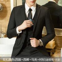 男士西服套装三件套青少年韩版结婚正装单西外套休闲小西装xx