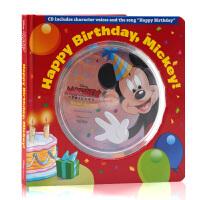 生日快乐米奇英文原版绘本 儿童启蒙纸板图画书 带CD Disney迪士尼出版 亲子互动