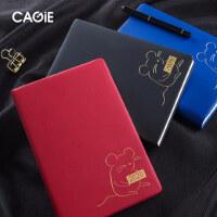 CAGIE/卡杰2020年日程本效率手册每日计划时间管理简约记事本加厚款商务时间轴备忘录鼠年笔记本子可定制logo