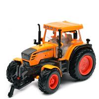 美致合金工程车拖拉机玩具拖拉机模型合金拖拉机车模男孩玩具车模抖音 大号拖拉机-黄