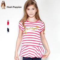 【3件3折:59.7元】暇步士童装女童夏装时尚条纹圆领衫