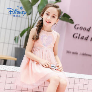 【2件3折】冰雪奇缘迪士尼童装女童夏装2018夏季新品爱莎公主裙连衣裙裙子