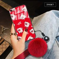 苹果7手机壳iphone8套ip7plus女款i7防摔i8个性p潮ip7网红ip8plus IPhone7 发财猪+毛
