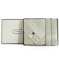 毛巾浴巾洗澡洗脸吸水组合礼盒三件套装